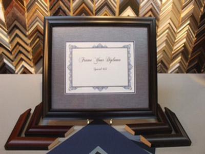Diploma-custom framed in Kalamazoo