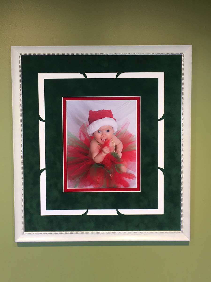 framed Christmas photo