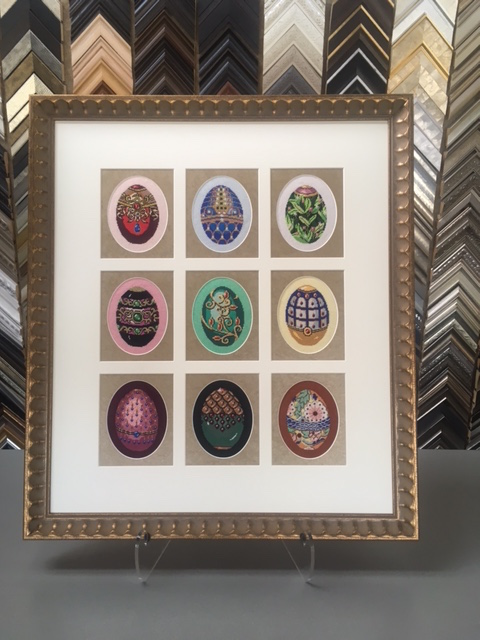 custom framed needlepoint
