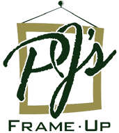 PJ's Frame-Up Logo